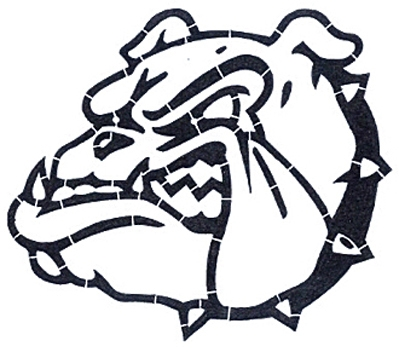 bulldog stencil bulldogs mascot stencil alpine products inc 8607